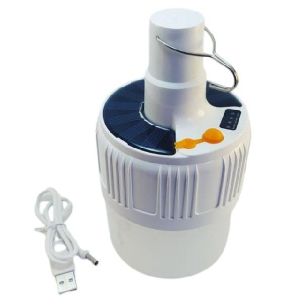 Lanterna de camping recarregavel por energia solar e usb