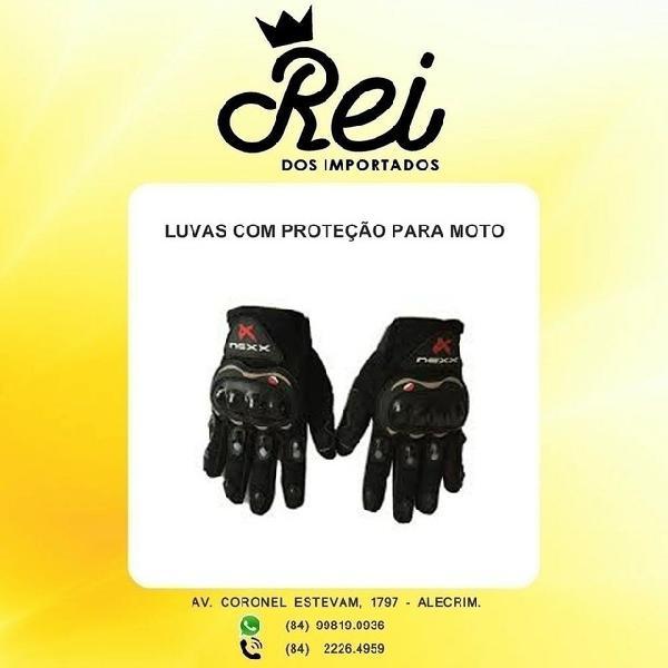 Luva de proteção na frente e atrás para motoqueiro ou