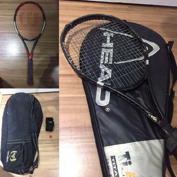 Raquetes de tênis (head one e wilson hammer 5.5)