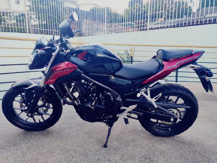 Vendo moto cb500f único dono apenas 780km