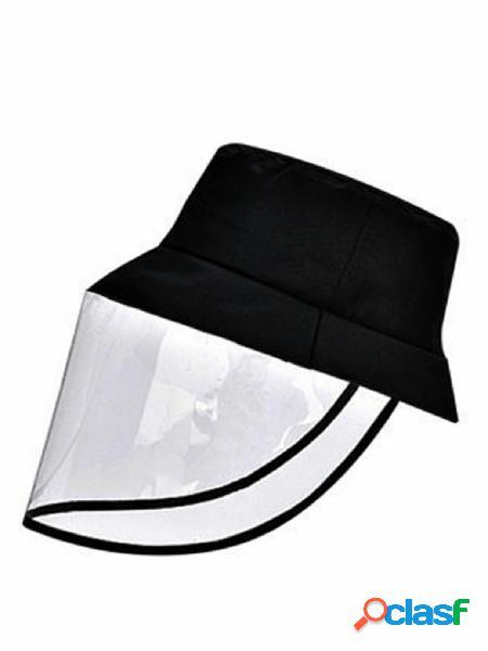 Tampas protetoras dobráveis de pvc máscara anti-nevoeiro, saliva, poeira, gotas, rosto inteiro, pescador, bonés