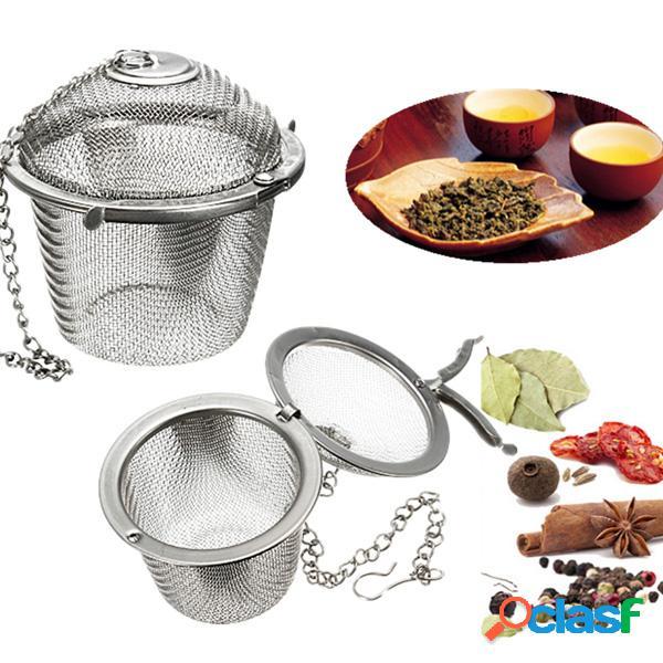 Filtro de chá de especiarias em aço inoxidável armazenamento de ervas infusters bola de malha