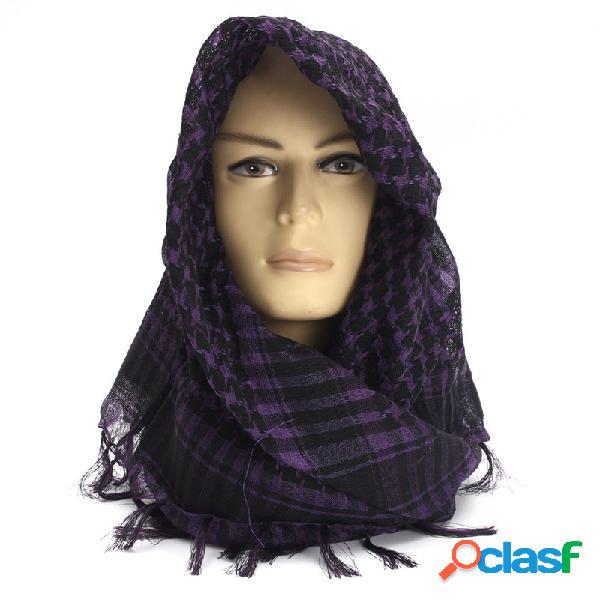 Unisex mulheres homens leve tático deserto árabe shemagh keffiyeh palestina cachecol xaile