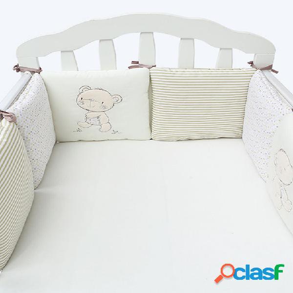 6 peças de berço infantil para bebê berço protetor de segurança conjunto de roupa de cama infantil