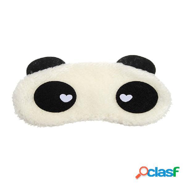 Adorável panda padrão olho máscara acessórios para óculos de proteção para viagem e descanso