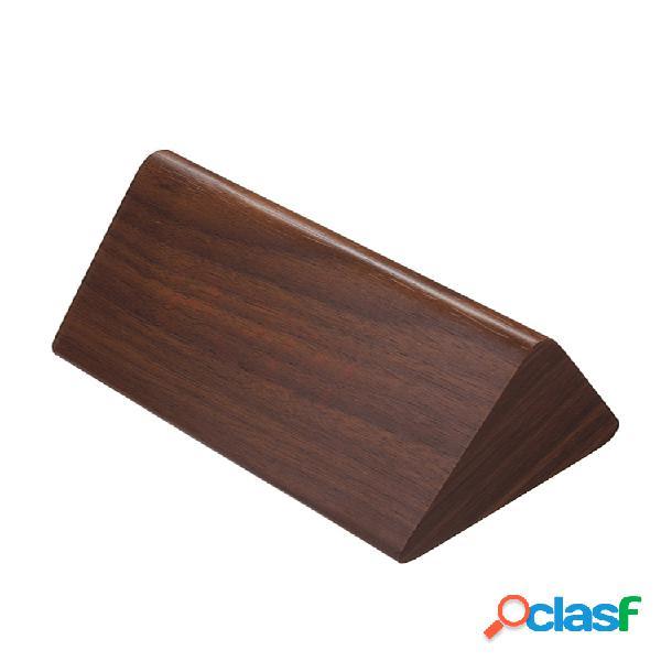 Despertador triangular digital de madeira com led controlo de voz