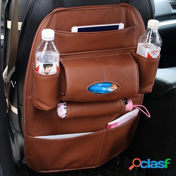 Cadeira de couro voltar saco de armazenamento multi-função do carro set saco de volta da caixa ao ar livre saco de suspensão