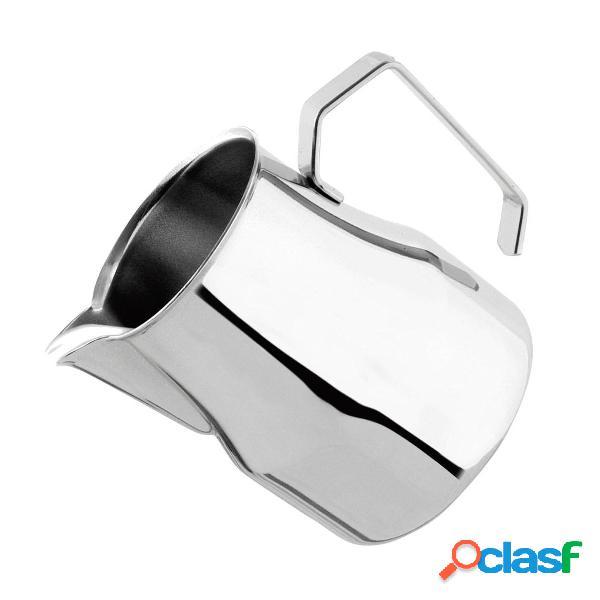 Aço inoxidável espumando café jarro leite café leite jarro prata