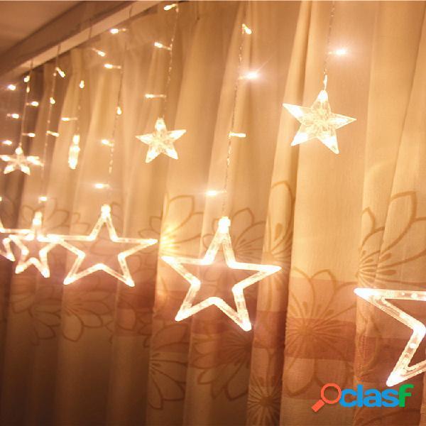 5m 138leds luzes de fada de natal festoon luzes de corda led star garland cortina de janela decoração de interiores festa de halloween iluminação de casamento