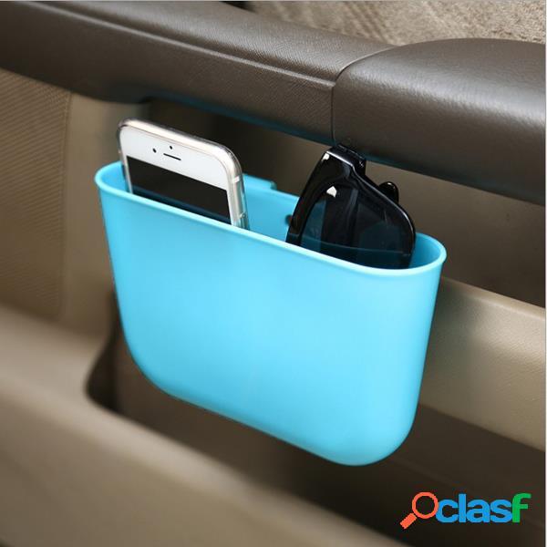 Caixa de armazenamento portátil de plástico para carro assento de carro gap pocket phone holder organizer