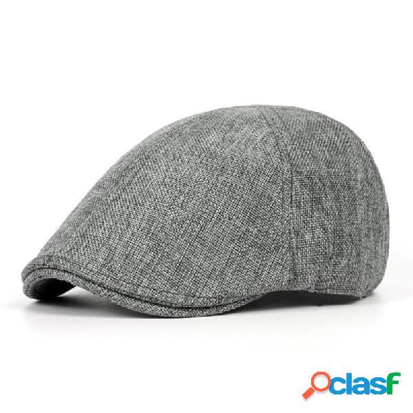 Chapéu berets casual estilo britânico sólido para homens