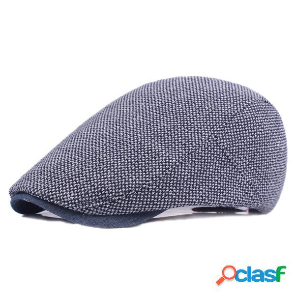Chapéu de algodãoi com cor sólido pára-beret chapéu casual viagem protetor solar atacante chapéu plana para homens
