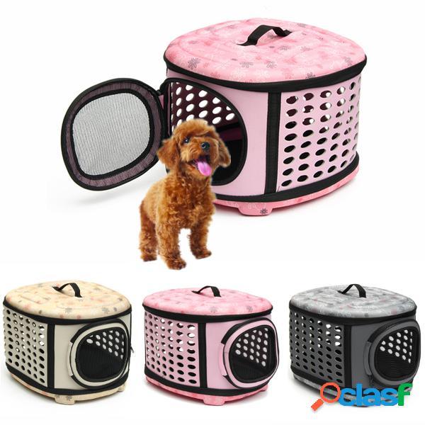 Small pet dog cat puppy kitten carrier portátil portable cage transporter 3 opções de cores