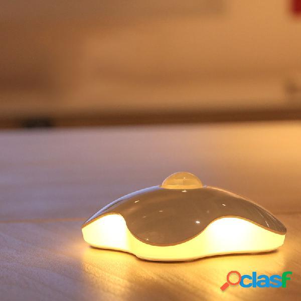 Loskii dx-s11 0.7w led sensor ativado por movimento night light four portable usb recarregável