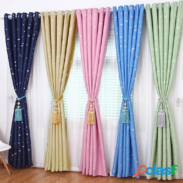 Cortinas blackout sky star cortinas isolantes térmicas para decoração de sala de estar