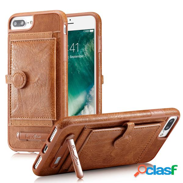 Mulheres pu leather card holder phone case phone bags para iphone