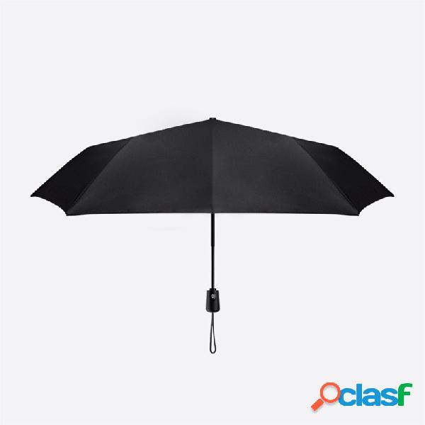 Original xiaomi guarda-chuva dobrável automático anti-uv grande à prova de vento guarda-chuvas resistente ao vento da chuva engrenagem