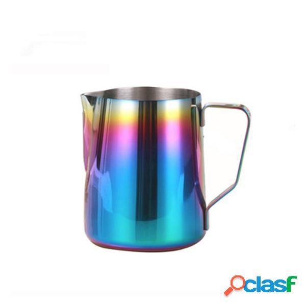 Potes de flor de aço inoxidável pull flower cup copo de leite fancy coffee cup utensílios de café