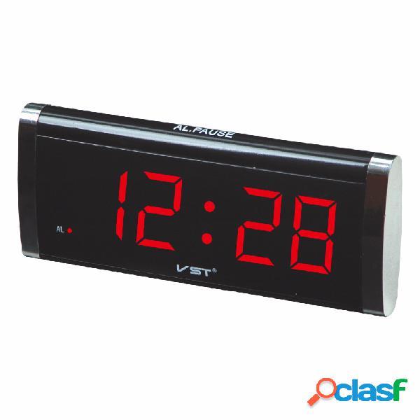 Vst730 relógio de mesa de 1,4 polegadas led relógio de exibição grande desktop home decor