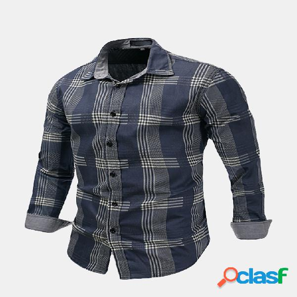 Slim fit business casual verificado listrado patchwork dress merda para homens