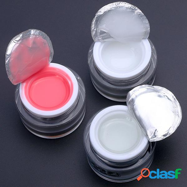 Uv nail model glue base extended gel white red clear supplies light therapy