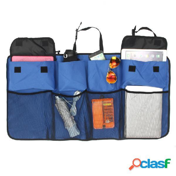 Multifuncional nylon rede de malha armazenamento de mala de carro bolsa banco traseiro organizador de garrafa de água