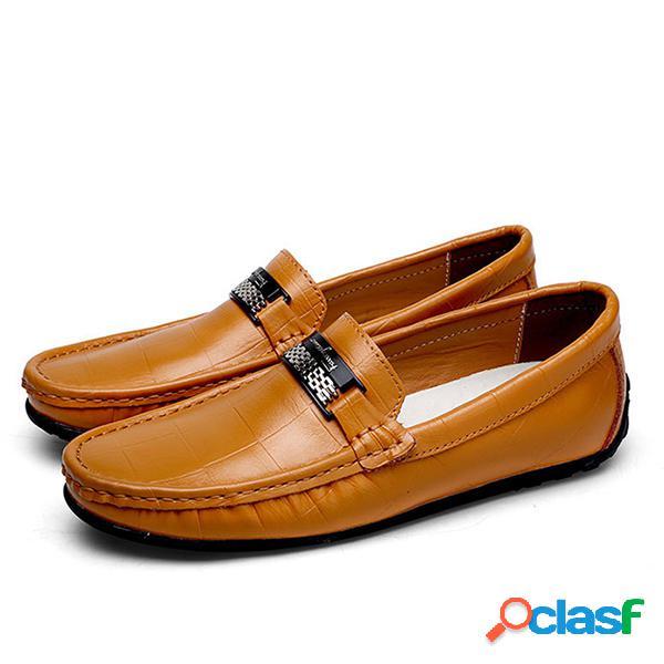 Homens de tamanho grande soft cow leather casual shoes