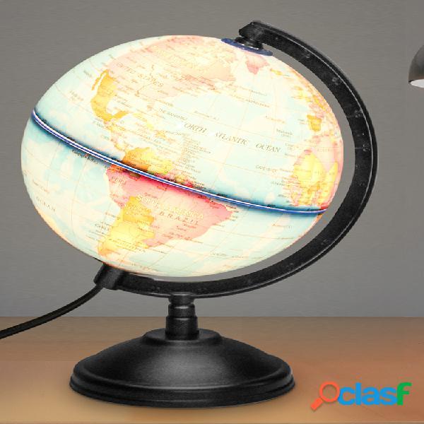 Mapa do globo terrestre do oceano azul mundial ensinando geografia mapa giratório luz noturna decoração de mesa