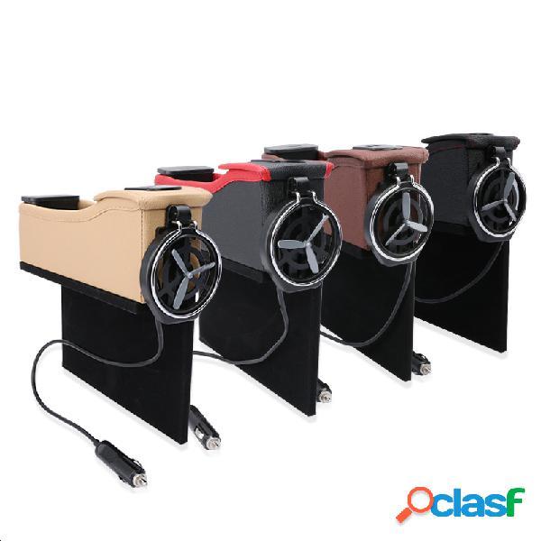 Armazenamento de espaço para assento de carro caixa organizador de fenda de assento usb bolsa suporte para copo de bebida de viagem para telefone almofada