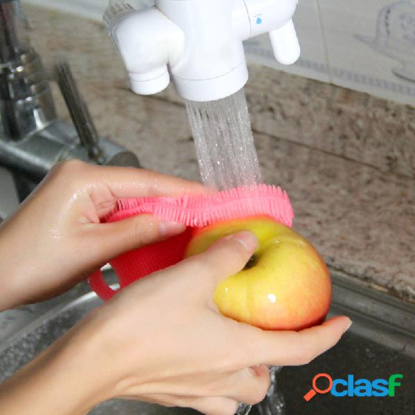 Silicone máquina de lavar louça mágica para cozinha escova limpador de utensílios de cozinha
