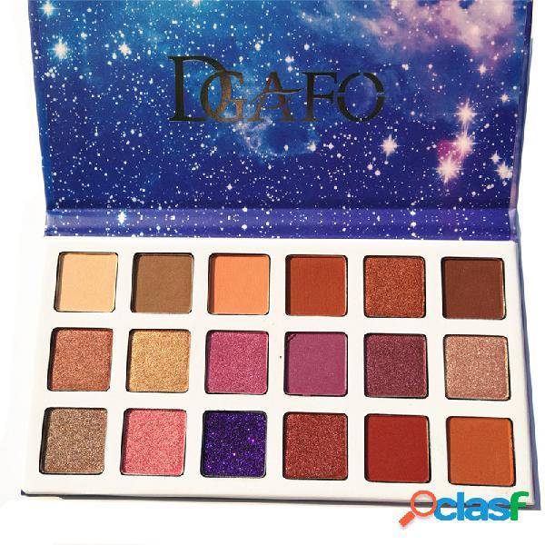 18 cores paleta de sombra modelo de céu estrelado durável