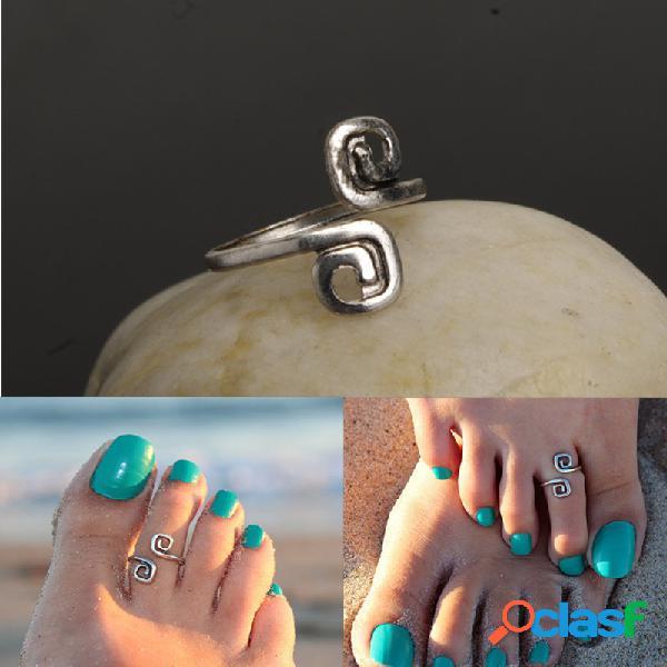Anéis de peixe bohemian vintage feminino antigo anéis de dedo do pé aberto jóias da praia boho para as mulheres