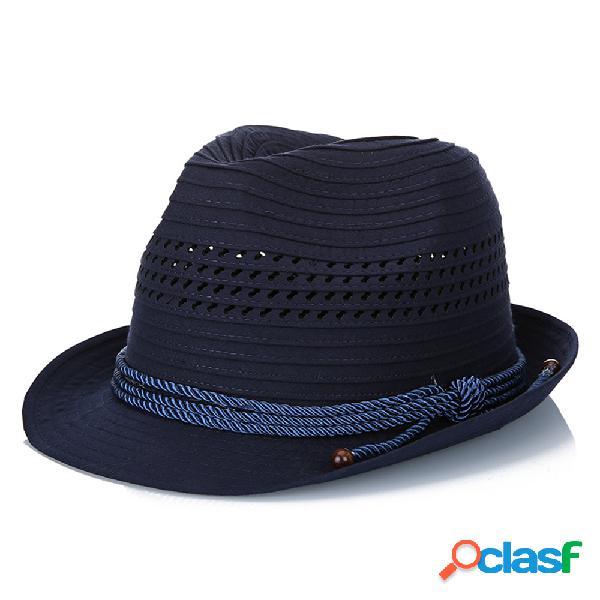 Unisex poliéster sólida stripe moda jazz chapéu lazer respirável flexível anti-pressão bucket cap