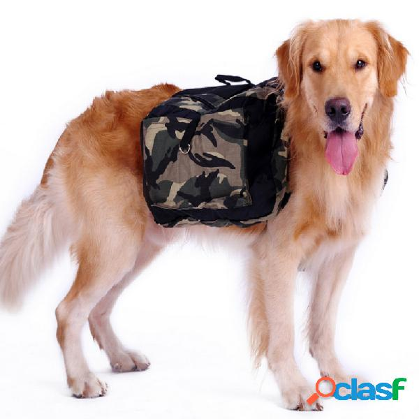 Ao ar livre grande saco do cão portador mochila saddle bags camuflagem grandes portadores de viagens cão para caminhadas