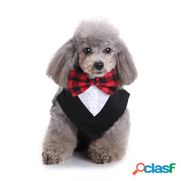 Formal cachorro gravatas tuxedo bandana lenço de pescoço ajustável pet gravata borboleta para festa de casamento