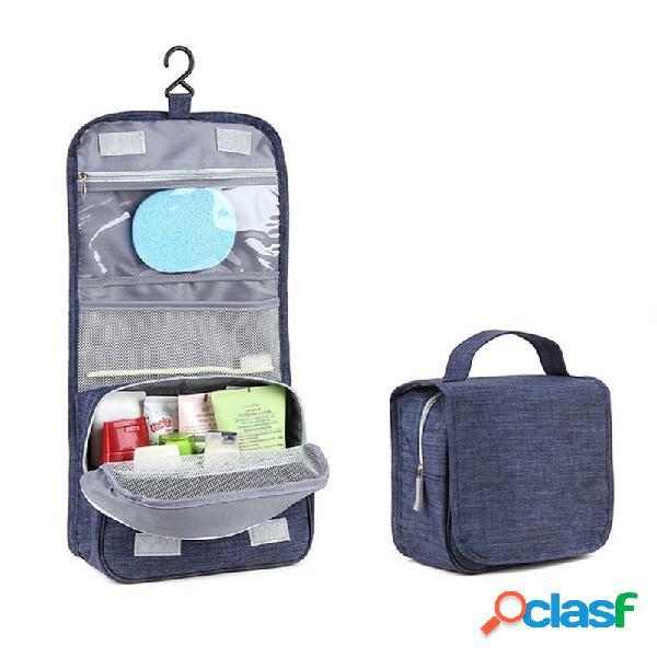 Travel wash cosmetic bolsa armazenamento portátil de grande capacidade bolsa