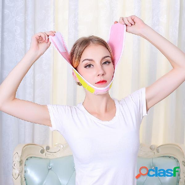 Rosto de levantamento de rosto máscara remova nasolabial dobra do queixo duplo rosto em v do artefato de levantamento facial emagrecer máscara