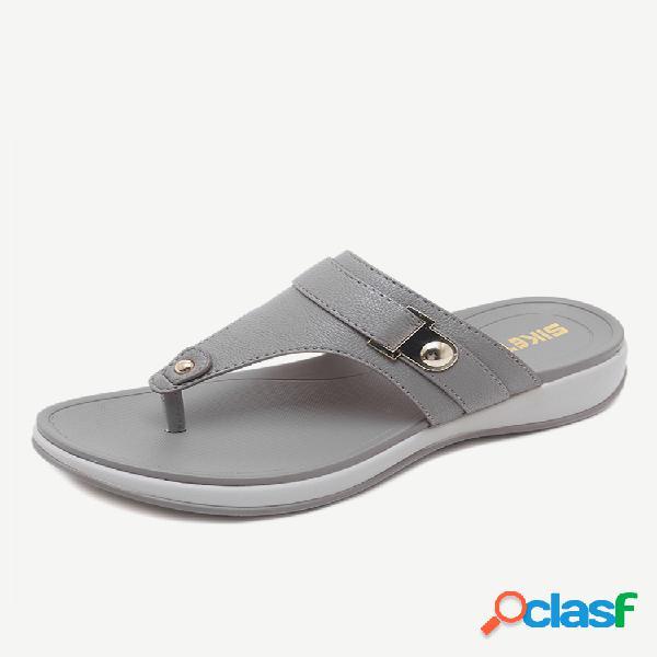 Chinelos confortáveis sem encosto praia sandálias planas para mulheres