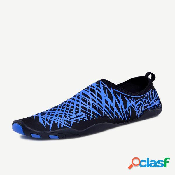 Tecido de secagem rápida masculino de tamanho grande yoga sapatos de mergulho para água