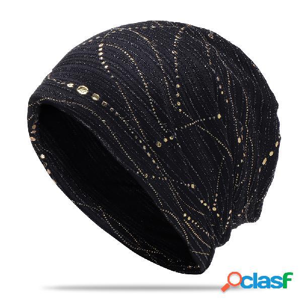 Mulheres de algodão de secagem rápida de secagem rápida respirável suor capas de cabelo slouchy macio flexível beanie hat