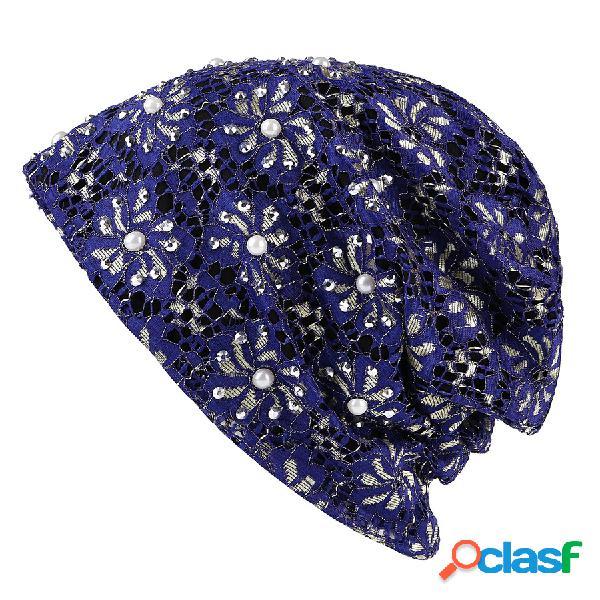 Mulheres inverno cor sólida oco algodão beanie cap earmuffs quente ao ar livre casuais chapéus