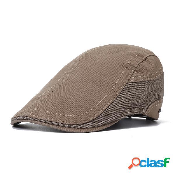 Boné boina ajustável de algodão vintage confortável vintage soft para viagem ao ar livre chapéu