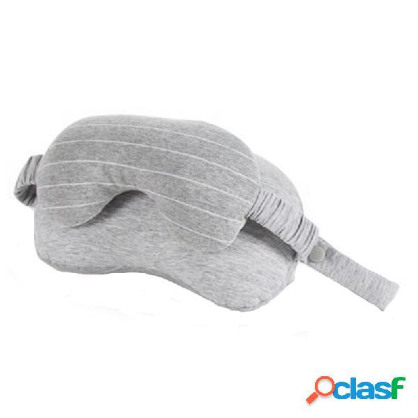 Ipree® 2-em-1 sleeping eye máscara sombra de proteção em forma de u travesseiro de suporte para pescoço de viagem