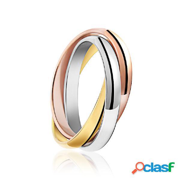 Moda anel de dedo anéis de aço inoxidável irregular elegante anéis coloridos criativo jewerly para as mulheres