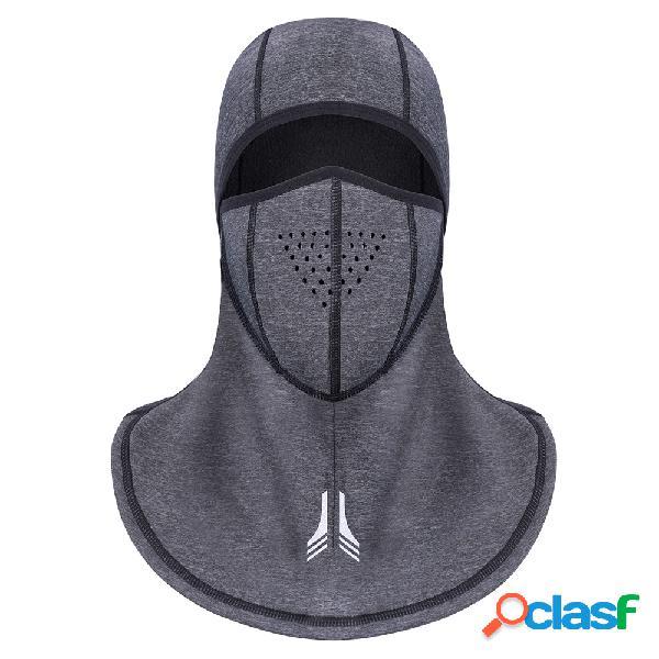 Mens elasticidade grosso rosto inverno pescoço quente chapéu à prova d 'água grosso ao ar livre equitação rosto máscara cap