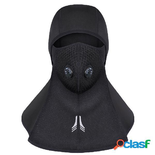 Mens grosso rosto inverno pescoço respirável à prova d 'água à prova de vento ao ar livre equitação esqui máscara facial cap