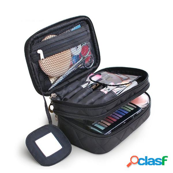 Nylon viagens bolsa armazenamento portátil bolsa cosmético bolsa para as mulheres