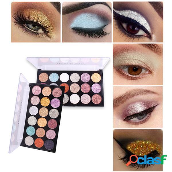 Brilho paleta de sombras com 18 cores shimmer eyeshadow palette long-lasting highlighter palette sombra de olhos