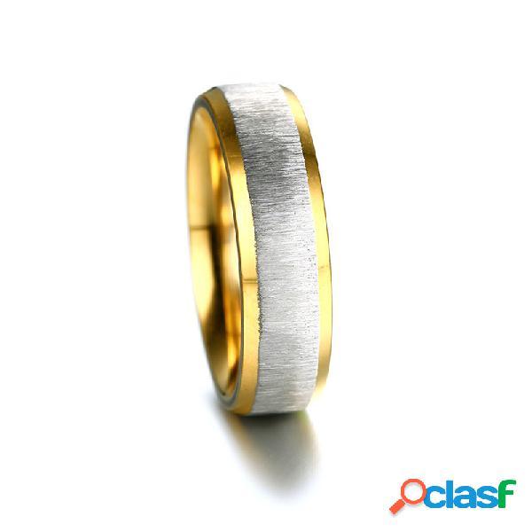 Moda anel de dedo fio de aço inoxidável desenho rosa de ouro anéis moda jóias para as mulheres