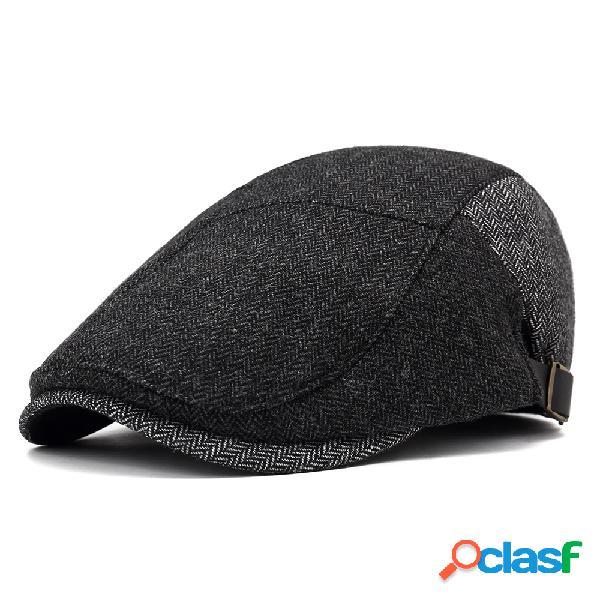Boné de algodão de inverno masculino ajustável chapéu boina de neve vintage quente ao ar livre